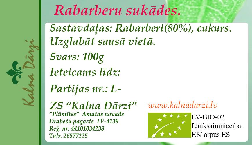 RABARBERU SUKĀDES BIO