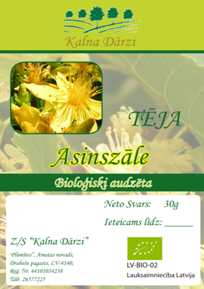 Bio tēja ASINSZĀLE