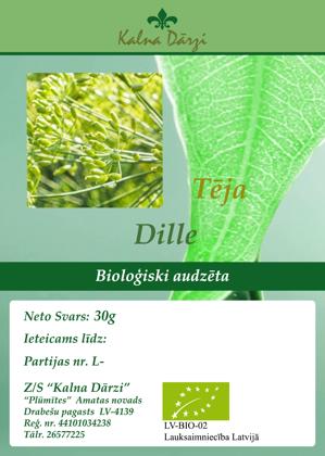 Bio tēja DILLE