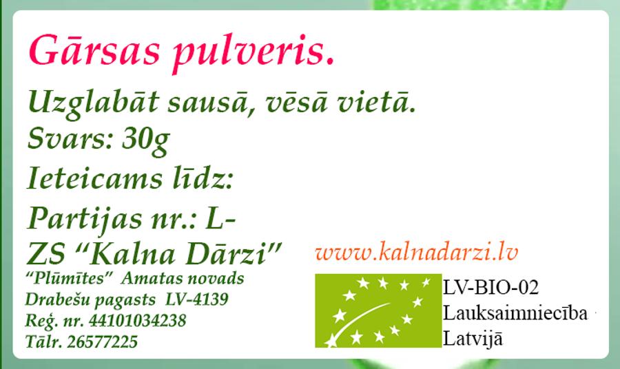 BIO GĀRSAS PULVERIS