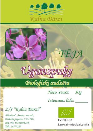 Bio tēja UGUNSPUĶE